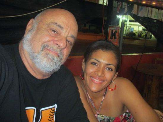 Me and my squeeze enjoying dinner at Ponchalos