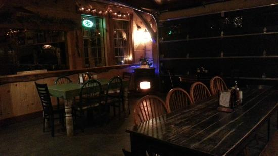 Pine Junction: Feb 2015 on a cold winter night in new dining area