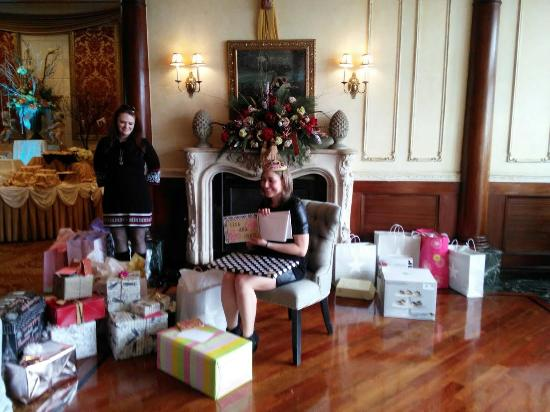My daughter in front of the fireplace opening gifts picture of westbury manor my daughter in front of the fireplace opening gifts teraionfo