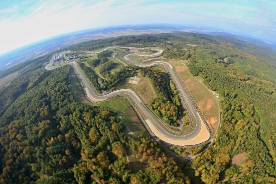 Brünn, Tschechien: Aerial view on the Brno Circuit (also know as Masaryk Circuit)