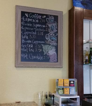 La Casa Del Pane: Coffee Menu