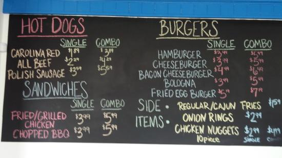 Two Guys Burger And Fries Menu Board