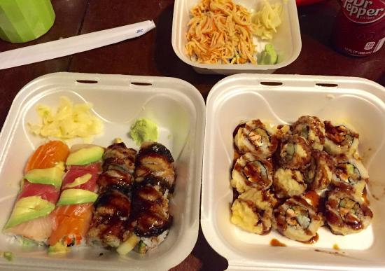 Kissho Japanese Restaurant: Take out Sushi!!! Very yummy btw!!