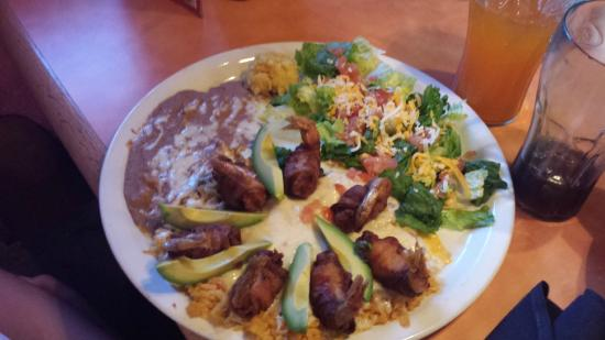 El Tapatio Mexican Restaurant: Bacon wrapped shrimp....to die for!