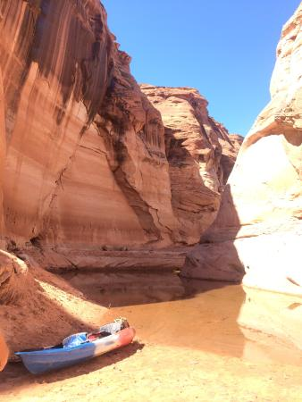 Hidden Canyon Kayak: We used our kayak from HCK to get to this beautiful location! Off Lake Powell.