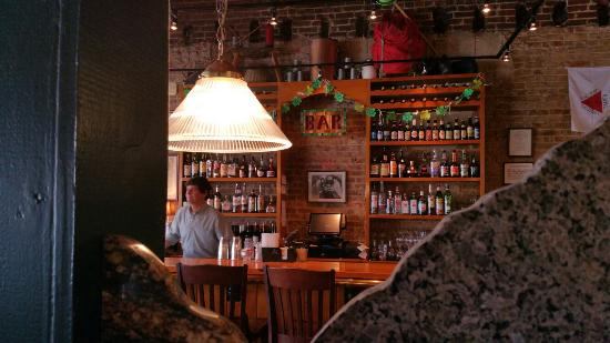The Falls Landing: View of bar from dining area