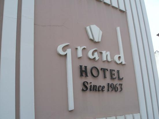 Grand Hotel Cochin : Entrance sign