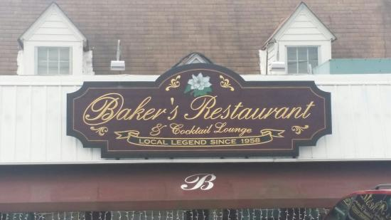 Baker's Restaurant: Close up of the signage on Halls Family Restaurant