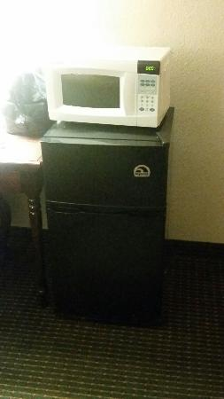Days Inn by Wyndham Greenville MS: Mico wave and refrigerator in room.
