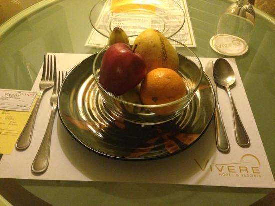 Vivere Hotel : Fresh fruits