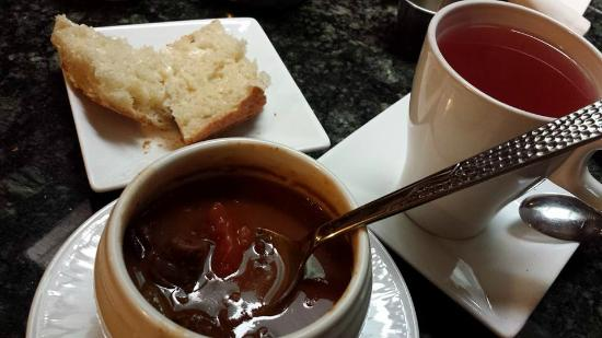 Cafe Normandie: lamb and black bean soup