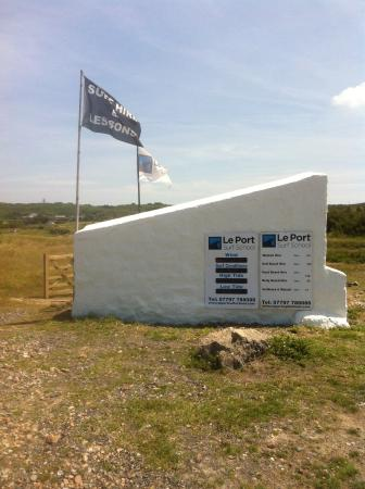 St. Peter, UK: The White Hut at Le Port