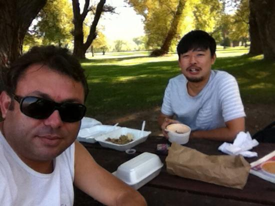 Parc des Îles de Toronto : Thanks giving with my Japanese friend at Toronto Island