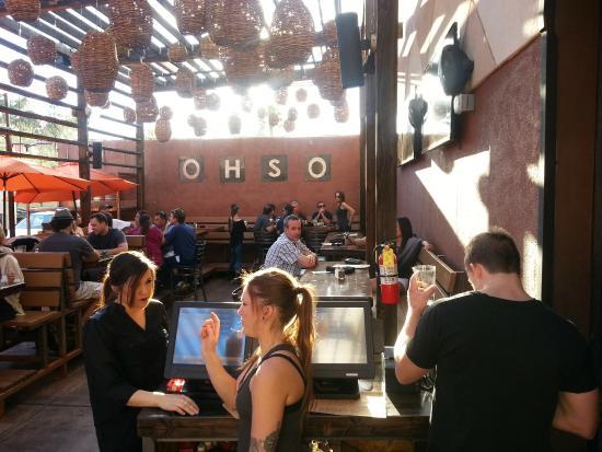 O.H.S.O. Eatery & nanoBrewery: outdoor dining