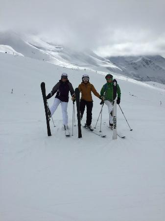 Having so much fun with our instructor, Lolo (Chamonix Sport Aventure)