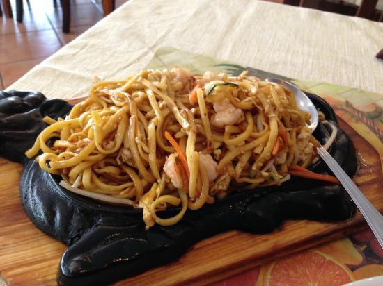 Fettuccine alla piastra con gamberi foto di il for Gamberi alla piastra cinesi