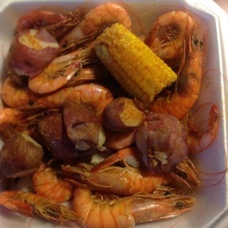 Boiled shrimp, corn, and potatoes - Picture of Clawdaddy's Crawfish ...