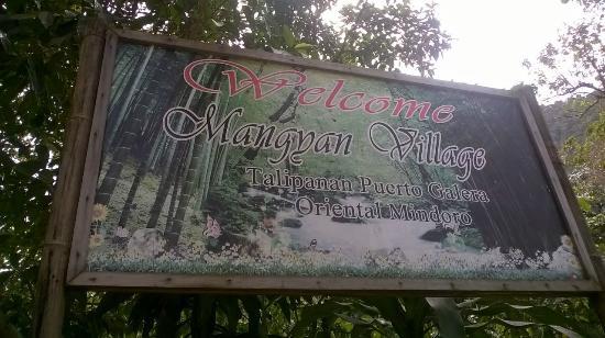 Talipanan Beach: Mangyan village