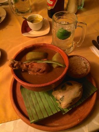Restaurante El Papaturro: Pepian Chicken - Delicious - Prepared by Marta
