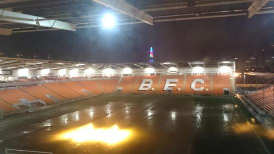 Wet Night In Blackpool Tower In The Distance Picture Of Blackpool Fc Hotel Tripadvisor