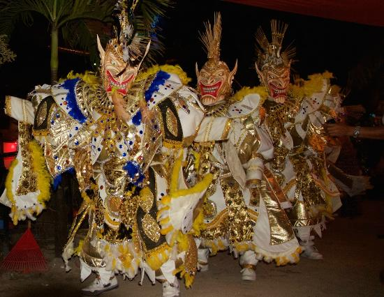 Carnaval celebration at Cabarete Beach