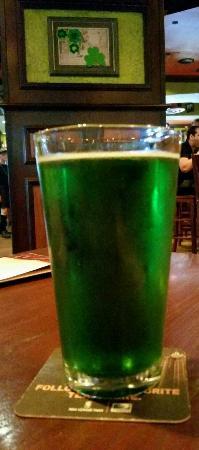 Tilted Kilt Pub & Eatery: Green Beer Bud Light