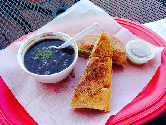 Aroma Cafe: The small sandwich combo is plenty to eat!