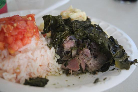 Ka'aloa's Super J's: Lau Laus; pork
