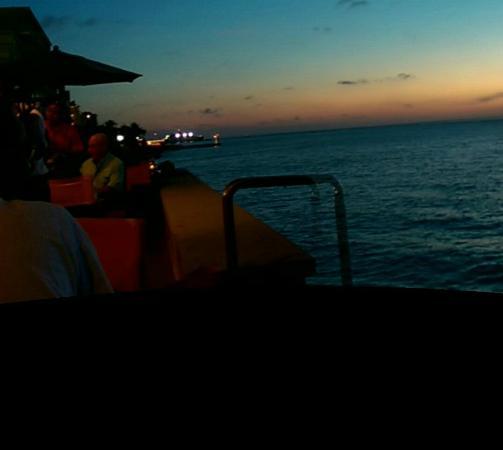 Rolandi's : taken from my seat at sundown