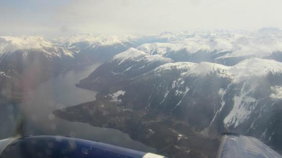 Bella Coola Valley: Inbound from Van. only 1 hr 15 min. flight