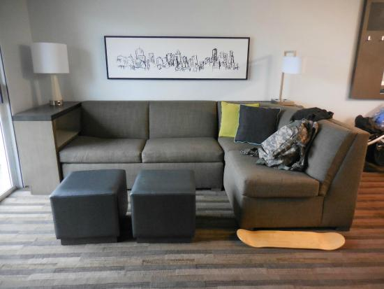 HYATT house Cypress/Anaheim: fold out sofa
