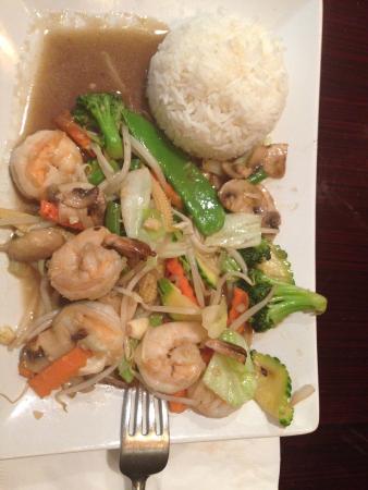 Siam Thai Restaurant: Pad Pak with Shrimp