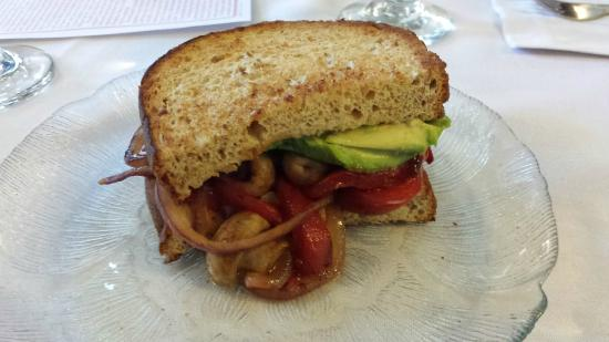 Local Roots Food Tours: My grilled Veggie sandwich - everyone else had a Reuben.