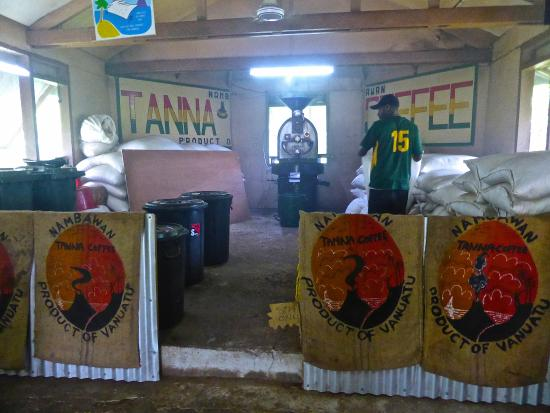 Tanna Coffee Roasting Factory: Inside