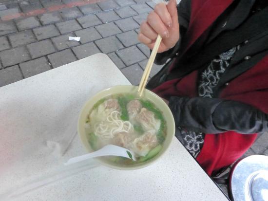 Qingguang Market: 雲呑麺