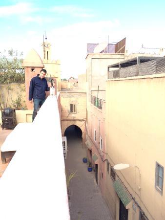 Dar Limoun Amara : En la terraza con Limoun