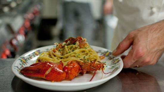 Spaghetti with lobster Ristorante Terrazza Brunella Capri - Picture ...