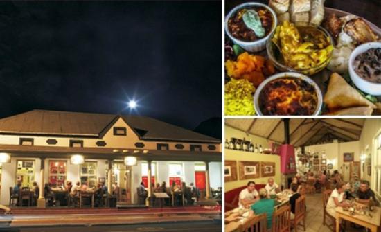 Kalfi's: Our restaurant from outside,inside and our tasting platter