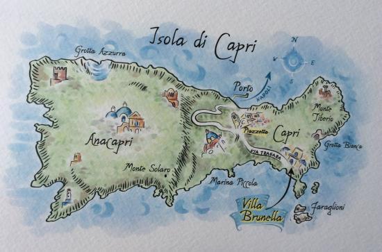 Map Ristorante Terrazza Brunella Capri Picture Of Terrazza