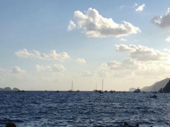 Bagni d'Arienzo: panorama serale