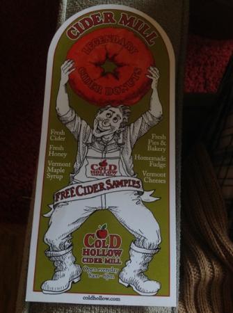 Cold Hollow Cider Mill: Free Cider Samples
