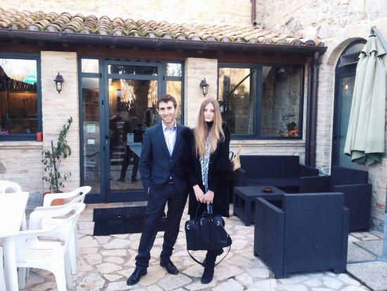 Villa Martina : Our waiter��thanks him for everything))