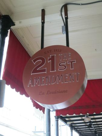 21st Amendment Bar at La Louisiane