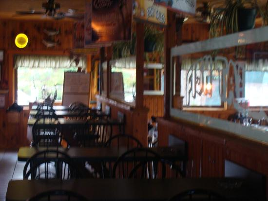 Fish Tales Restaurant: You can eat in the bar area too!