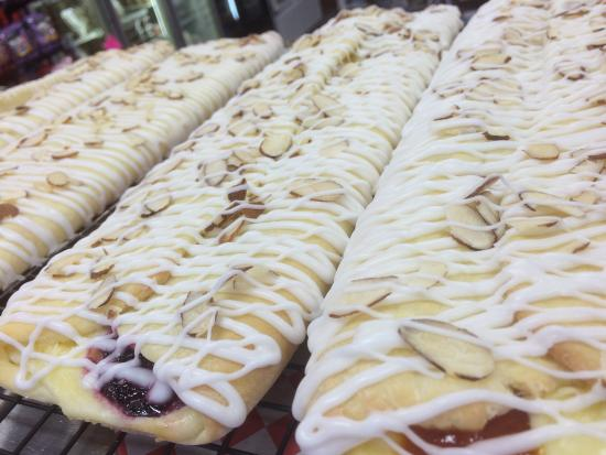 Sandpoint, ID: Raspberry, Apricot or Huckleberry Cream Cheese Stollen offered on Thursday ~