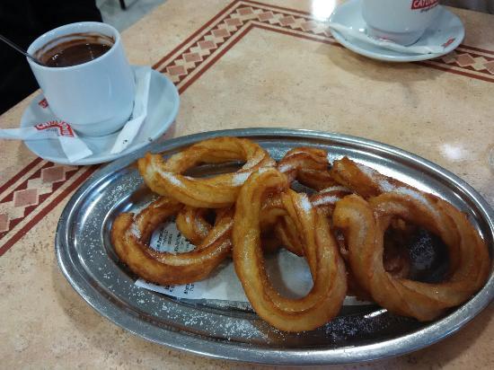 Restaurante Spala Duque: Chocolate con churros