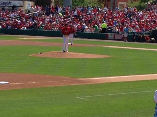 Jupiter, FL: Michael Wacha pitching from the mound in the first inning!