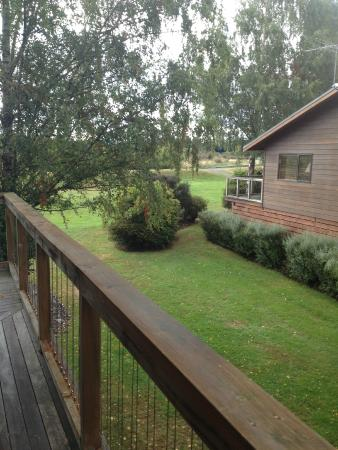 Tongariro Lodge: Off the deck