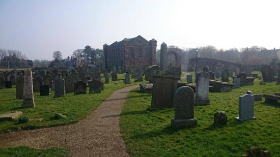 Coldingham Priory: Sample of Path and Picture of Priory