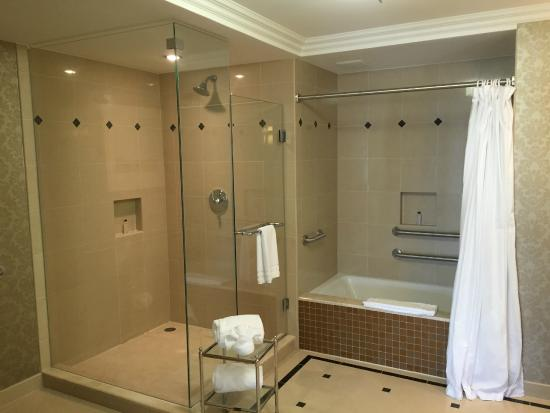 Waldorf Astoria Orlando : view of bathroom and shower